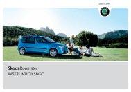 ŠkodaRoomster INSTRUKTIONSBOG - Media Portal - Škoda Auto