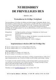 Nyhedesbrevet for oktober 2005 (PDF) - De Frivilliges Hus