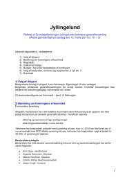 Referat Generalforsamling - Grundejerforeningen Jyllingelund