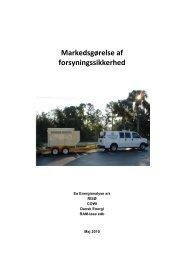 Markedsgørelse af forsyningssikkerhed - Ea Energianalyse