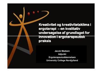 Kreativitet og kreativitetsklima i ergoterapi - Ergoterapeutforeningen