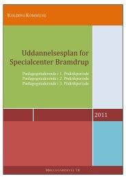 Uddannelsesplan Centerafdelingen 2011 - Bramdrup Skole ...