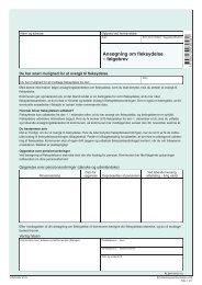 FL 201 - Ansøgning om fleksydelse - følgebrev - klxml
