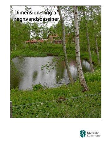 Dimensionering af regnvandsbassiner - Favrskov Kommune
