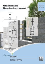 Letklinkerblokke Dimensionering af murværk - Dansk Beton