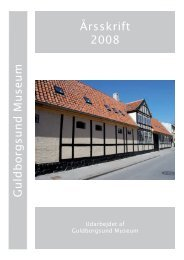 Guldborgsund Museums årsberetning 2008 - Åbne Samlinger
