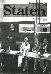 Oktober 2000, årgang 3, nr. 1 - STATEN
