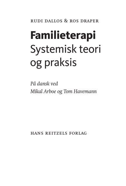 familieterapi og systemisk praksis