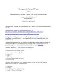 Høringsnotat for planen - Naturstyrelsen