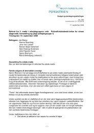 16. september 2008 - Psykiatrien - Region Nordjylland