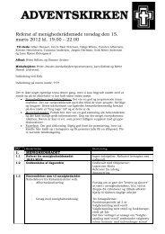 Referat af menighedsrådsmøde torsdag den 15. marts 2012 kl. 19.00