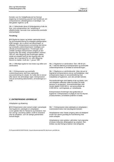 Fællesbetingelser (FB)