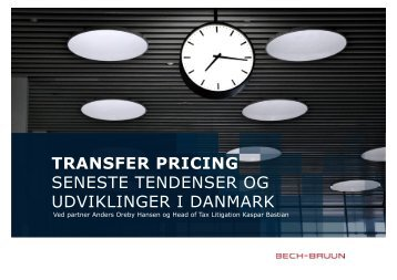 Transfer pricing del 1 - Bech-Bruun