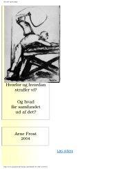 Hvorfor og hvordan - Arne Frost