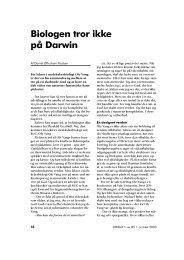 Biologen tror ikke på Darwin - Skabelse.dk