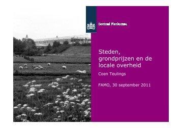 Steden, grondprijzen en de locale overheid - Famo