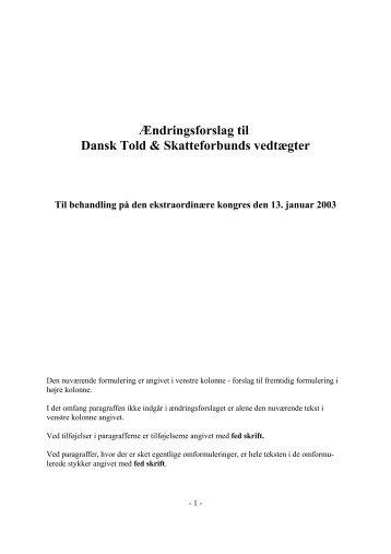 vedtægtsændringer - Dansk Told & Skatteforbund