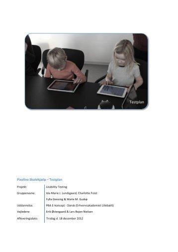 Testplan - Frostdesign