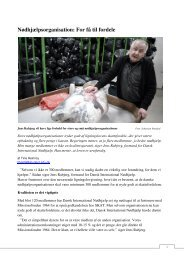 Nødhjælpsorganisation: For få til fordele - Tine Østerskov Heinricy