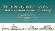 Samarbejdsdrevet Innovation: - KS