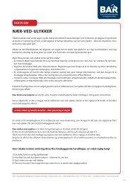 Fakta om NÆR-VED-ULYKKER - BAR Bygge & Anlæg