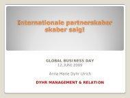 Internationale partnerskaber skaber salg! GLOBAL BUSINESS DAY