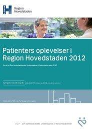Region Hovedstaden LUP 2012 - Enheden for Brugerundersøgelser