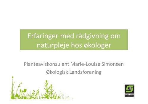 pp erfaringer med rÜdgivning om naturpleje hos õkologer.pptx
