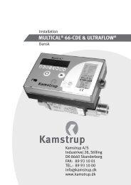 MULTICAL® 66-CDE & ULTRAFLOW® - Kamstrup