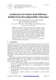 Architecture for End-to-End Efficiency distilled from Reconfigurability ...