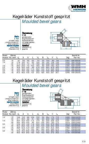 Moulded bevel gears Moulded bevel gears - Antriebstechnik ...