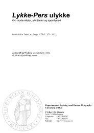 Lykke-Pers ulykke Om moderniteter, identiteter og egentlighed