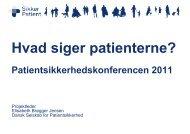 Se præsentation - Dansk Selskab for Patientsikkerhed
