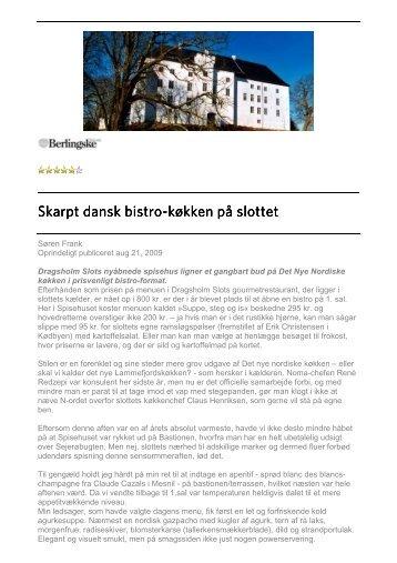 Berlingske Tidende, august 2009. Lammefjordens ... - Dragsholm Slot