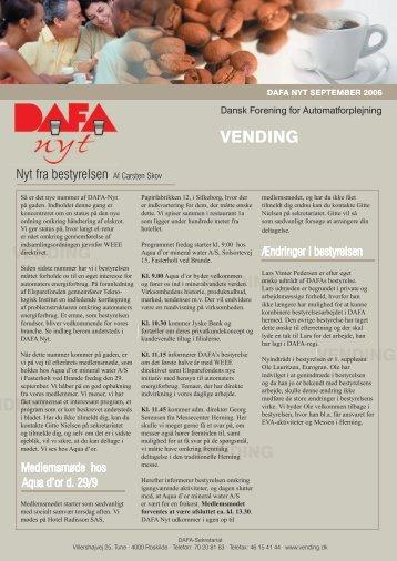 DAFA nyt september 2006 - Vending