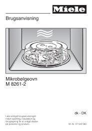 Brugsanvisning Mikrobølgeovn M 8261-2 - Hvidt & Frit
