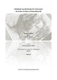 Muligheder og udfordringer for klimavenlige restauranter