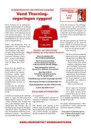 1. maj-avis (pdf) - Kommunistisk Politik
