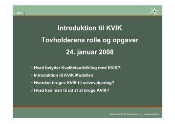 Introduktion til og planlægning af en selvevaluering - SCKK