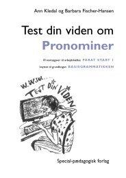 Test din viden om Pronominer - spf – nyheder . dk
