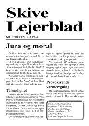 Jura og moral - Lejernes LO – Skive afd.