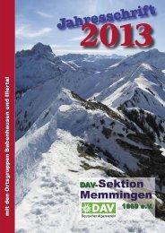 DAV Memmigen Jahresschrift 2013