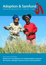tema: voksne adopterede - Adoption og Samfund