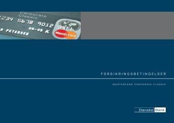 MasterCard Corporate Classic - Forsikringsbetingelser (pdf)