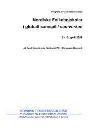 Nordiske Folkehøjskoler i globalt samspil / samverkan 8.-10. april ...