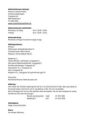Personalehåndbog 2011 - Åbne Samlinger