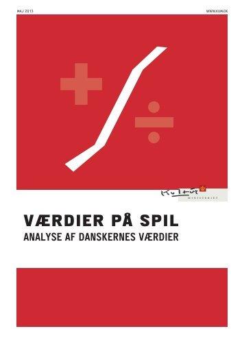 VÆRDIER PÅ SPIL - Kulturministeriet