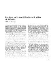 Bartskærer og kirurger i Kolding indtil midten af 1800-tallet