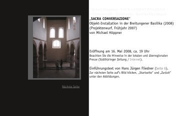 Michael Höppner - Sacra Conversazione - Breitungen Basilika