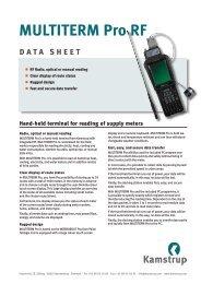 MULTITERM Pro RF DATA SHEET - Kamstrup